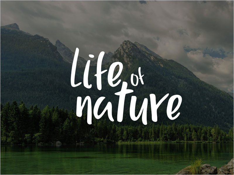 Typography---Life-Of-Nature