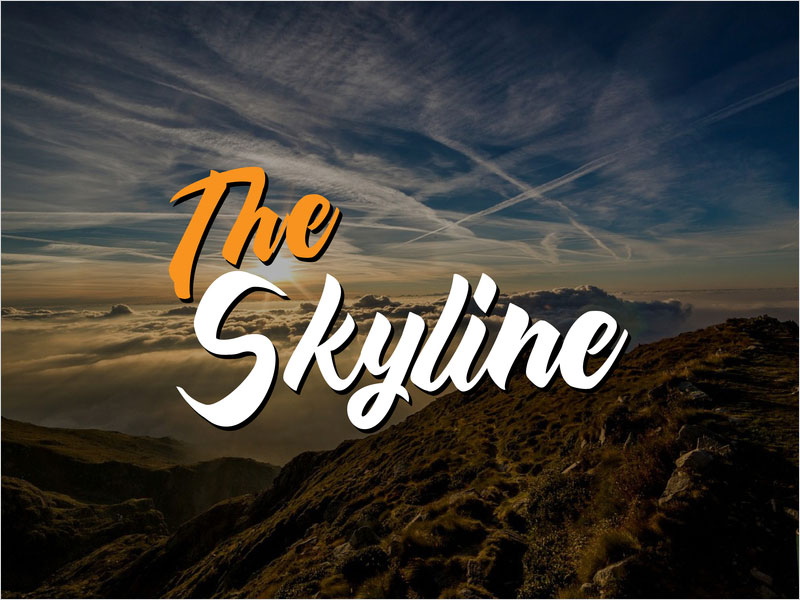 Typography---The-Skyline