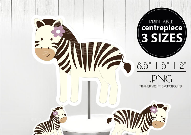 Zebra-Baby-Girl-Centerpiece