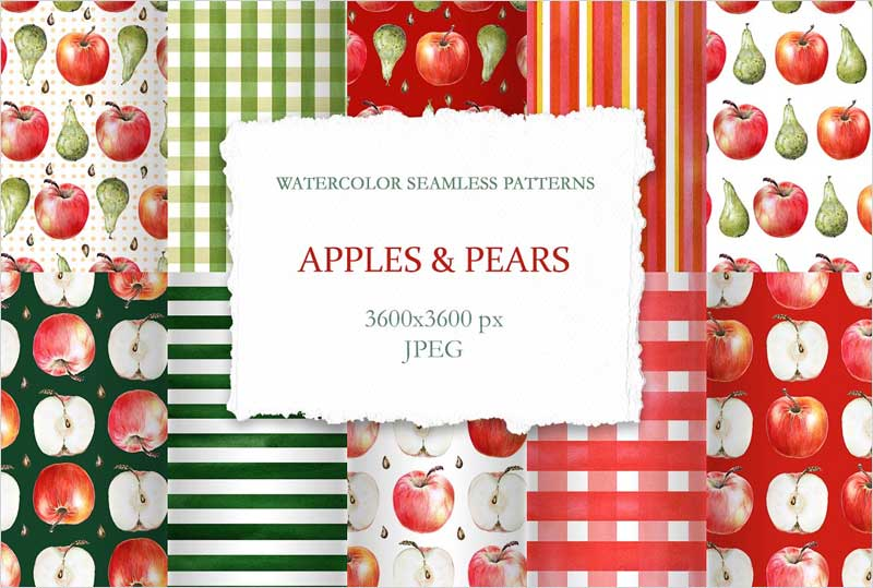 Apple-and-Pears-Seamless-Patterns