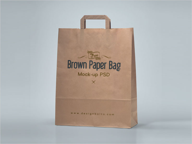 Free-Brown-Paper-Shopping-Bag-Packaging-Mock-Up-Psd