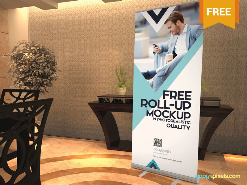 Free-Elegant-Roll-Up-Banner-Mockup