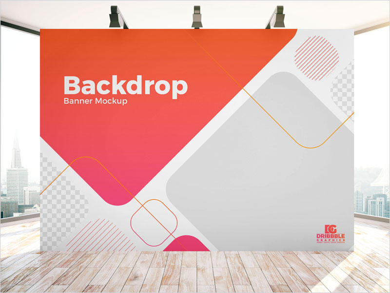 Free-Indoor-Advertisement-Backdrop-Banner-Mockup-PSD