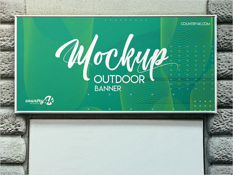 Free-Outdoor-Banner-PSD-MockUp-in-4k