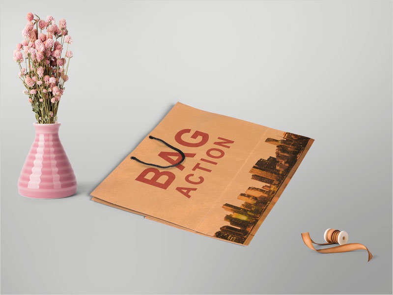 Free-Pink-Shopping-Bag-Psd-Mockup
