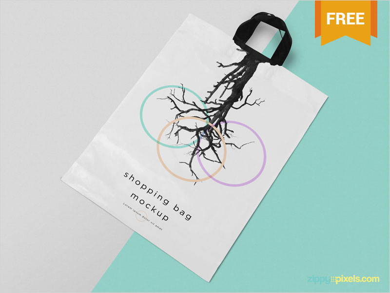 Free-Polythene-Shopping-Bag-Mockup