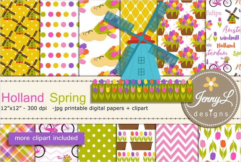 Holland-Spring-Digital-Papers-&-Clip