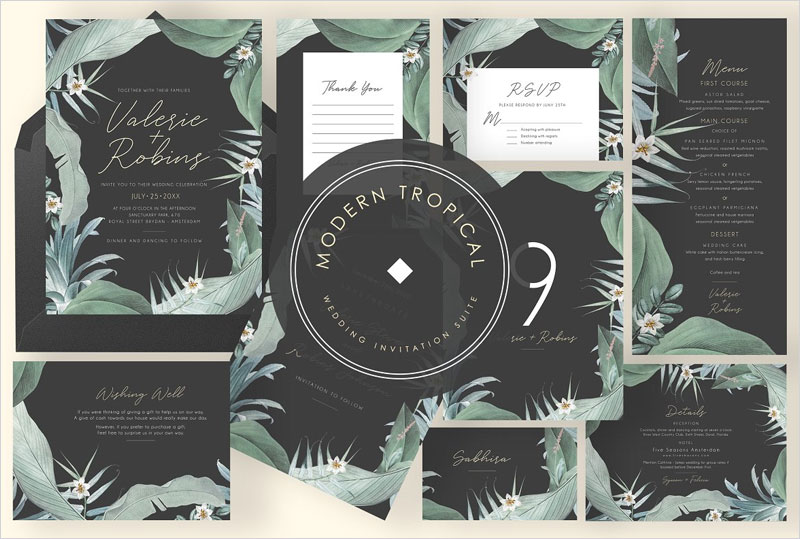 Modern-Tropical-Wedding-Suite