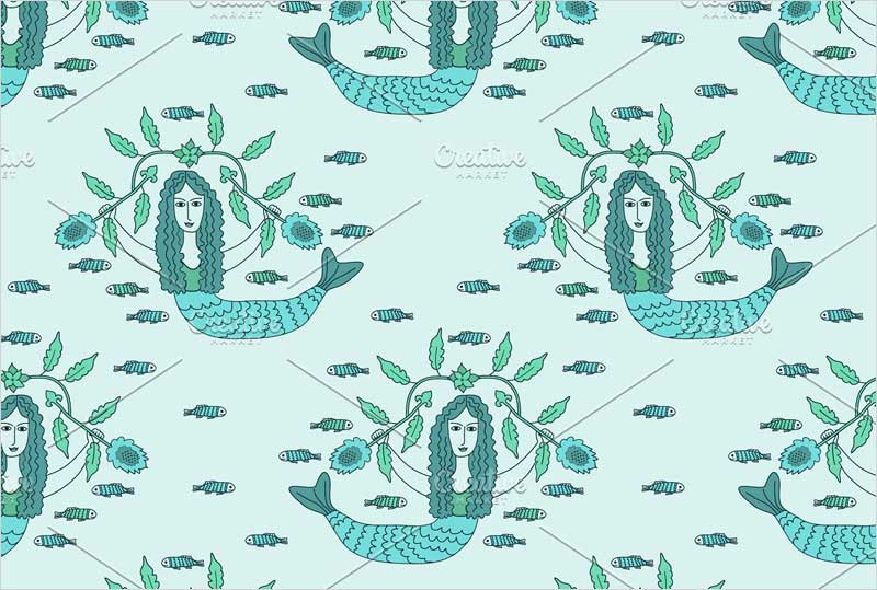 Seamless-mermaids-pattern