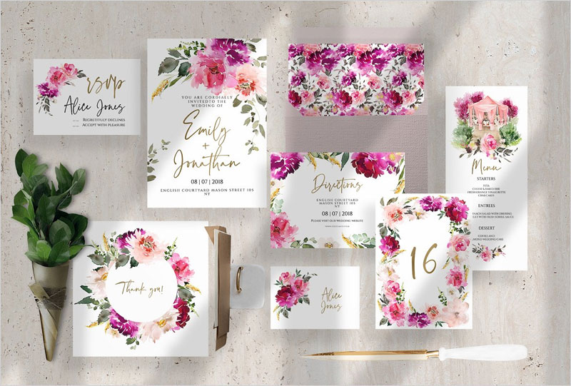 The-set-of-cards-for-the-wedding