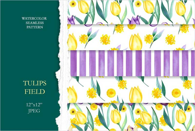 Tulips-Seamless-Patterns