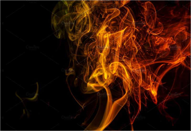 Abstract-orange-smoke