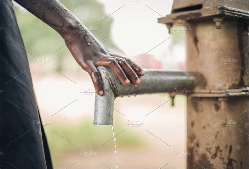 African-Child's-Hand-on-Water-Spout
