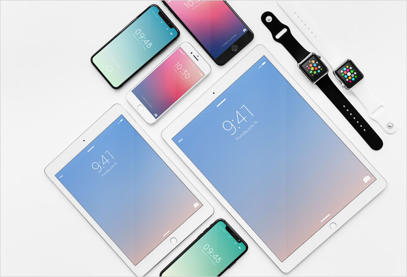 Apple-Devices-Showcase-Mockup-Bundle