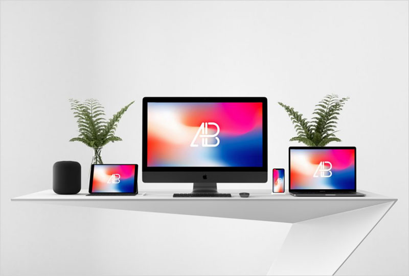 Apple-Devices-on-Desk-Mockup