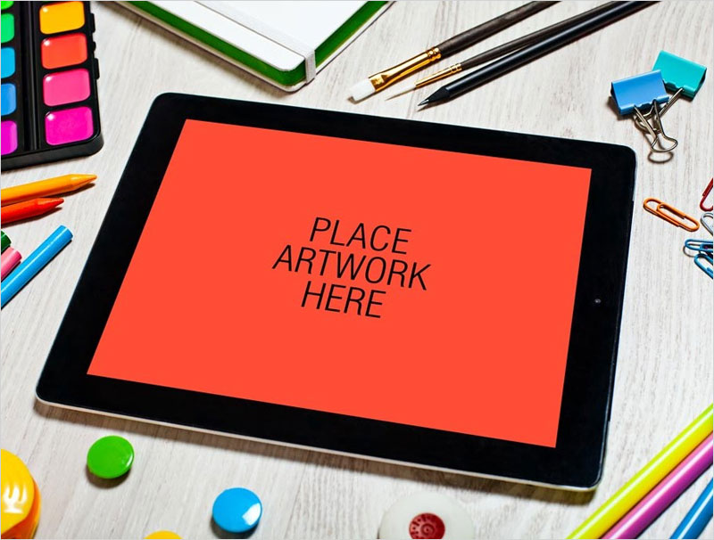 Artistic-Workspace-iPad-Mockup