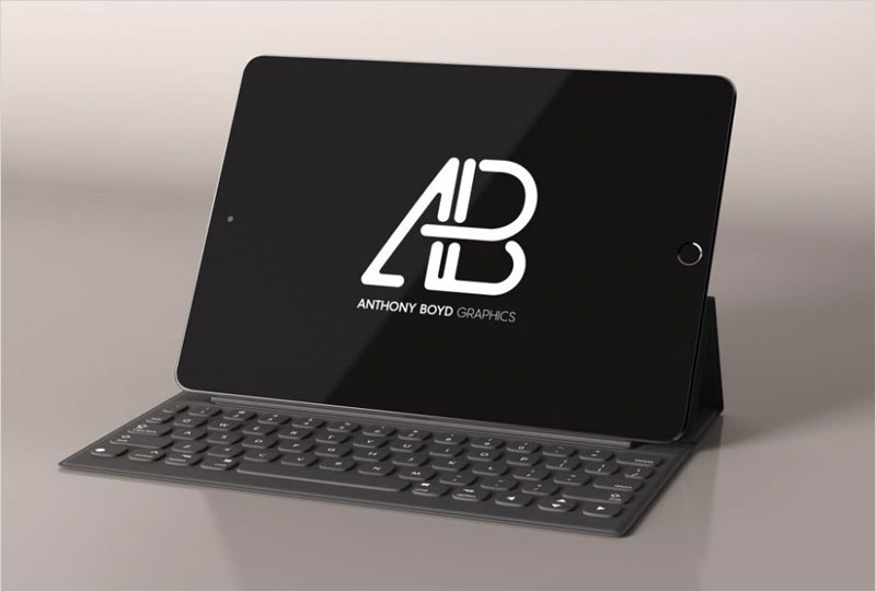 Black-iPad-with-Keyboard-Mockup