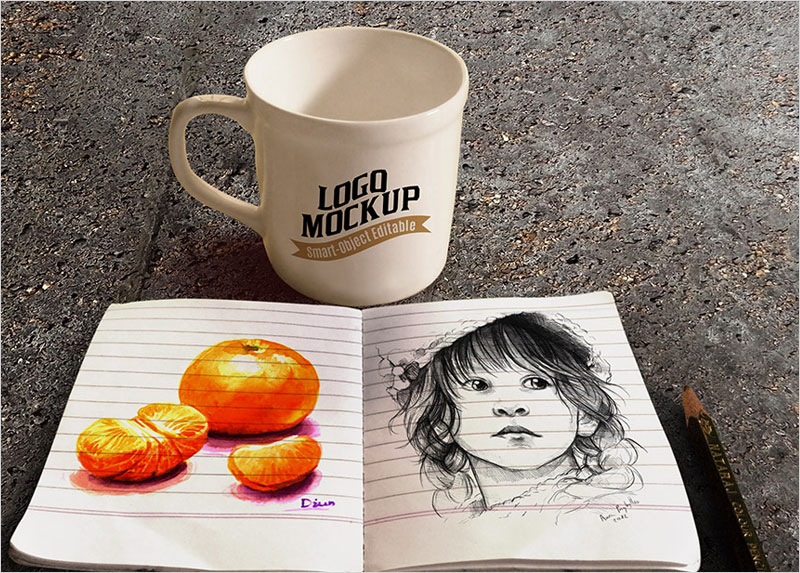 Coffee-Cup-and-Sketchbook-Mockup