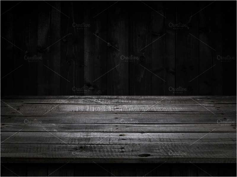Dark-wood-table-for-product-display