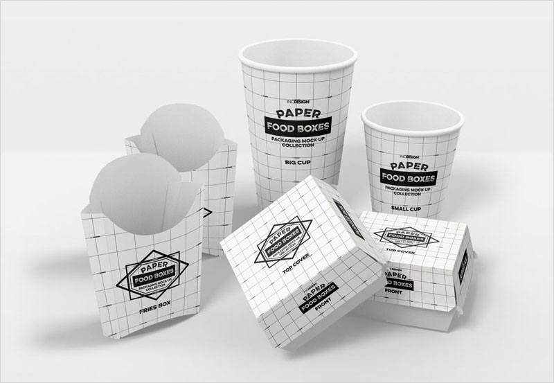 Fast-Food-Packaging-(Boxes-and-Cups)-Mockup