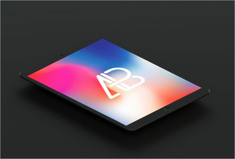Floating-matte-black-iPad-Pro-Mockup