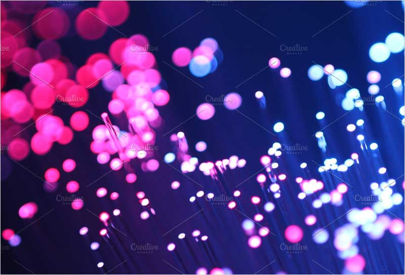 Macro-light-purple-optical-fibers