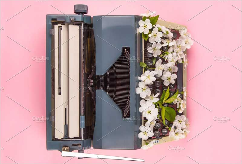 Typewriter-in-the-modern-style