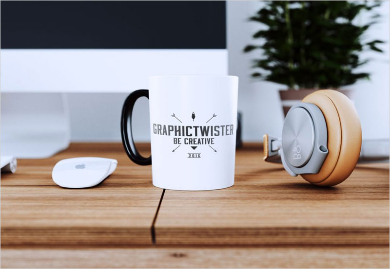 White-Cup-on-Desk-Mockup