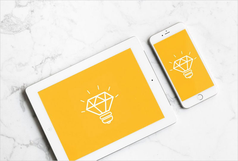 White-iPad-with-iPhone-Mockup