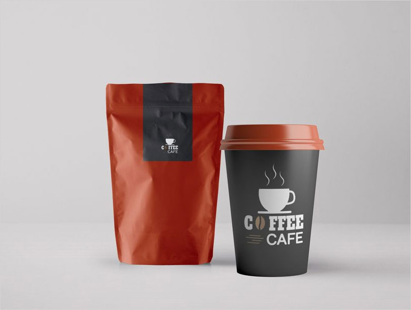 Coffee-Packaging-and-Paper-Cup-Mockup