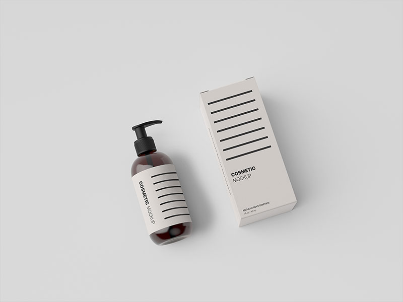 Cosmetic-Bottle-Packaging-Showcase-Mockup