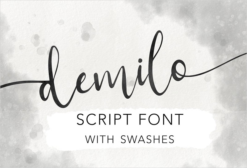 Demilo-Brush-Script-With-Swashes