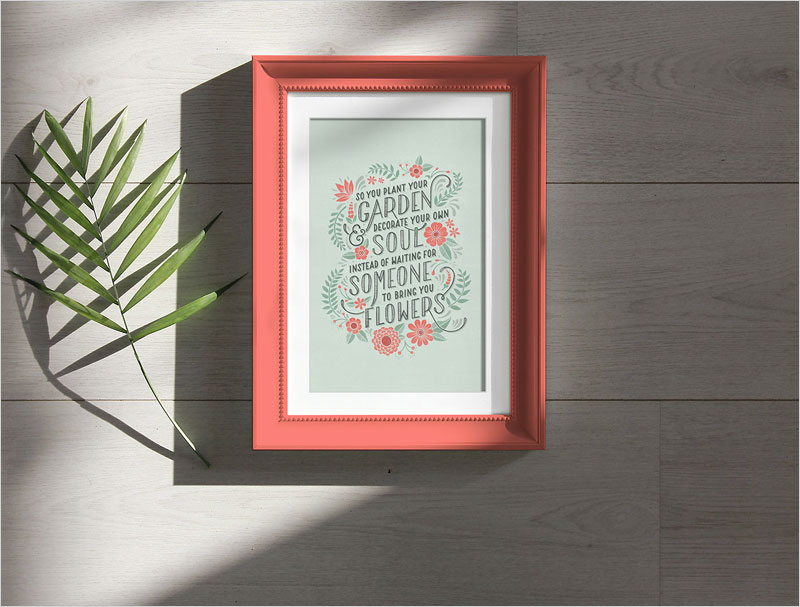Free-Photo-Frame-Under-Natural-Sunlight-Mockup-PSD