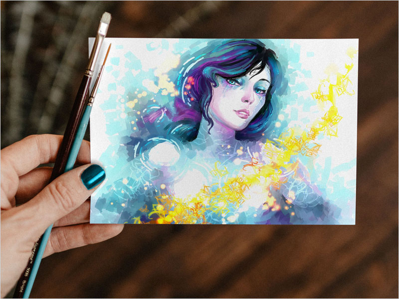 Free-Watercolor-Painting-Greeting-Card-Mockup-PSD