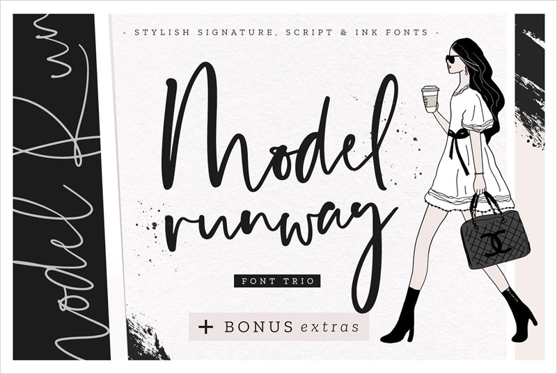 Model-Runway-Fonts-+-BONUS-Extras