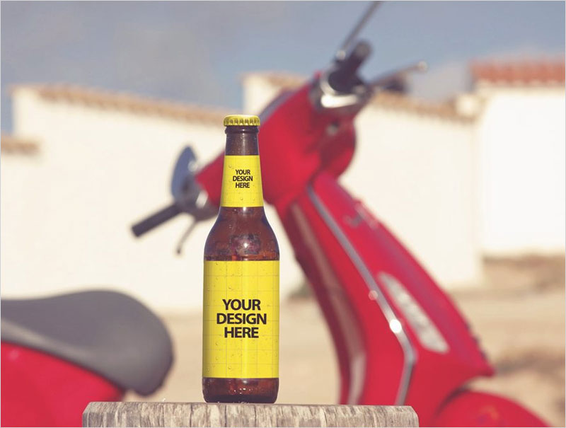 Outdoor-Beer-Bottle-Mockup