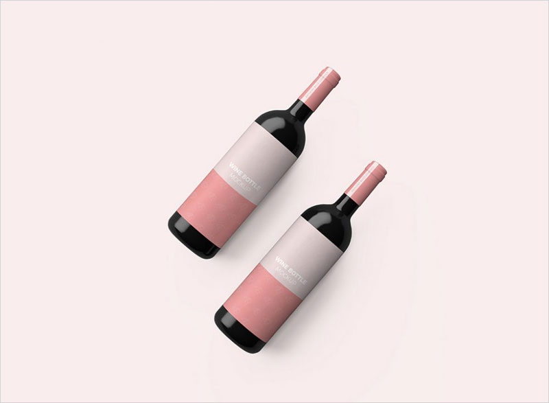 Red-Wine-Bottles-Mockup