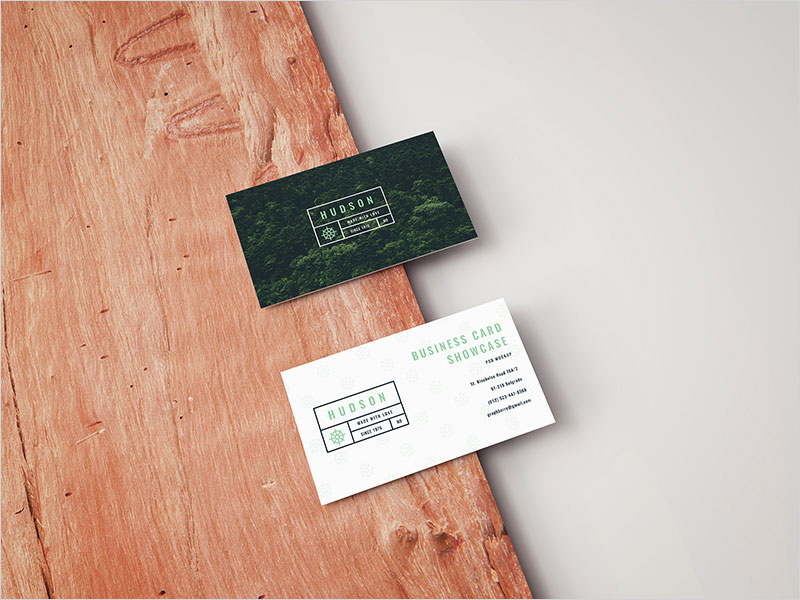 Business-Card-on-a-Wooden-Board-Mockup