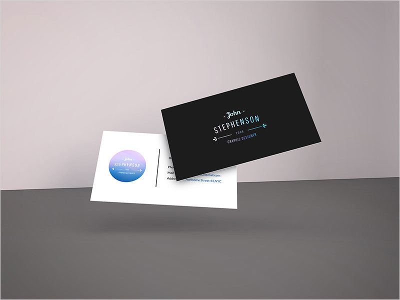 Falling-Business-Cards-Free-Mockup