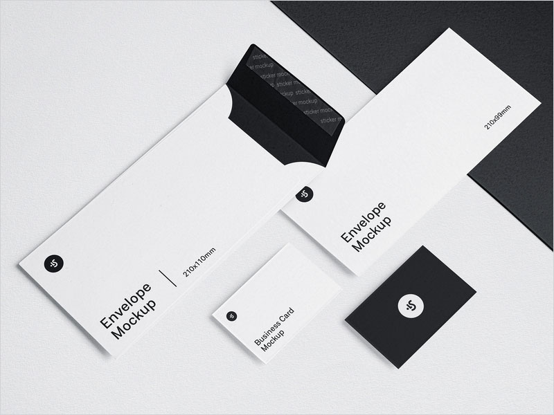 Free-Envelope-and-Business-Cards-Mockup