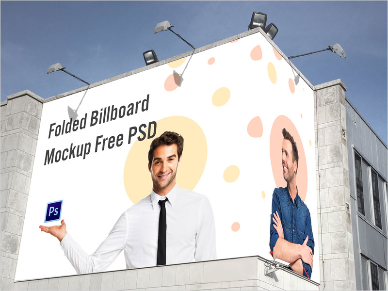 Free-Folded-Billboard-Mockup