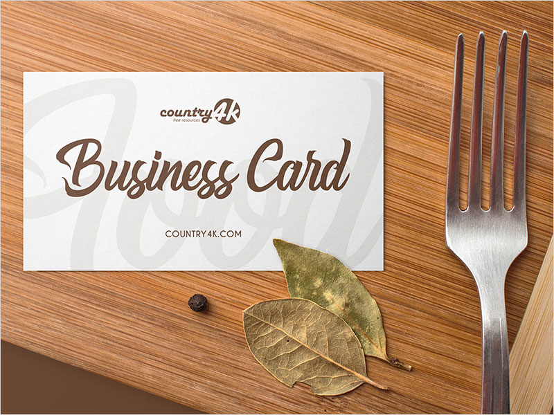 Free-Food-Business-Card-PSD-MockUp