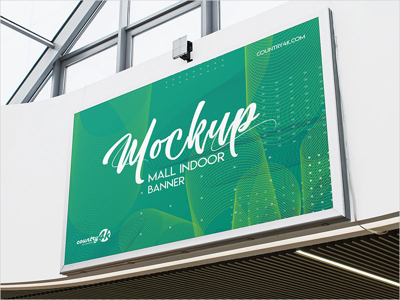 Free-Mall-Indoor-Banner-PSD-MockUp-in-4k