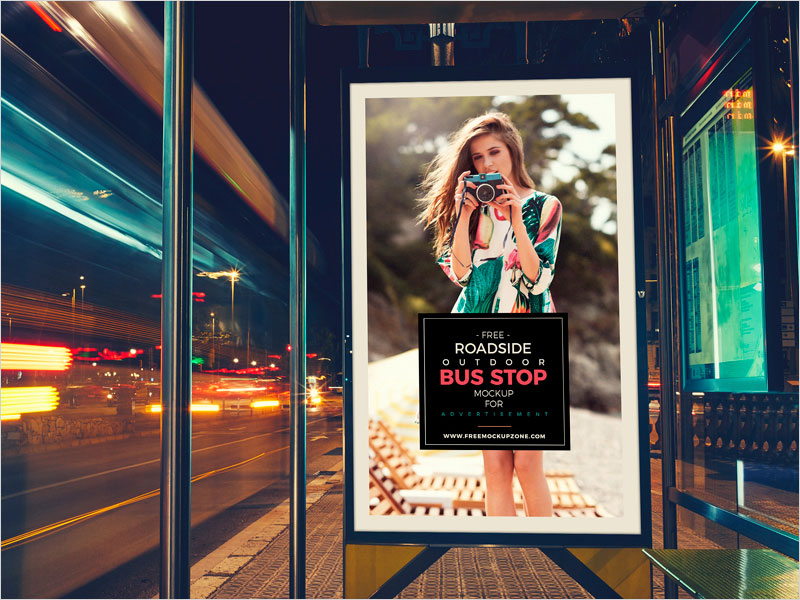Free-Roadside-Outdoor-Bus-Stop-Billboard-MockUp