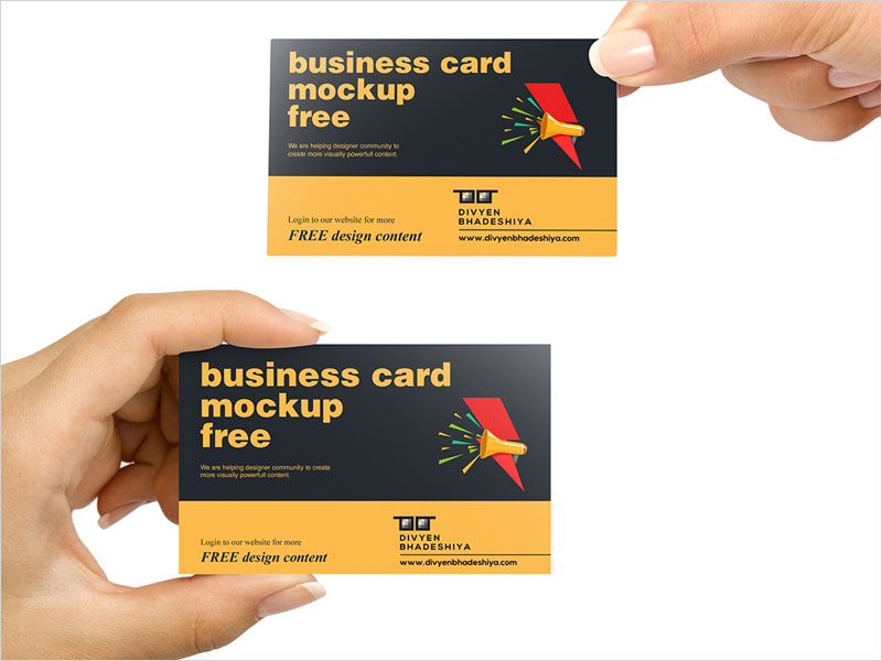 PSD-Free-Business-Card-Mockup
