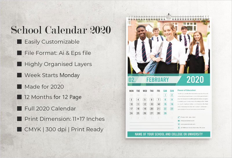 2020-Education-Calendar-Templates