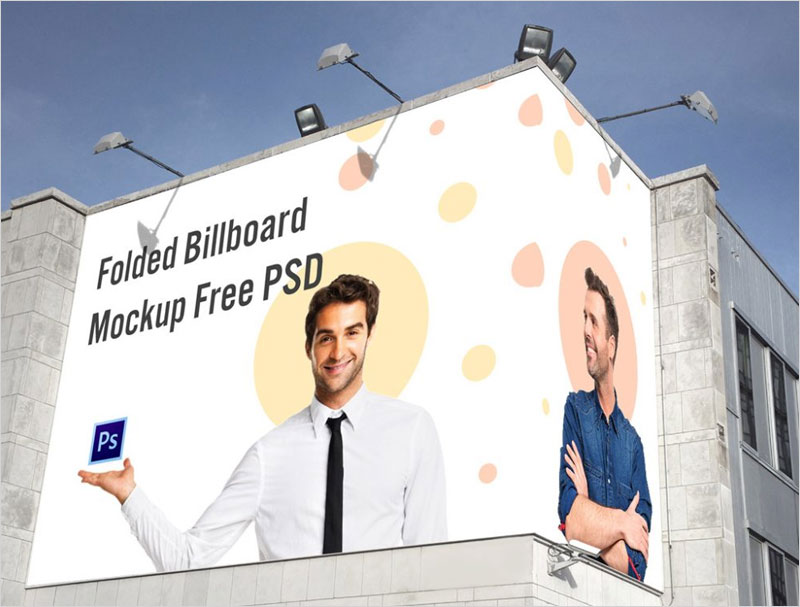 Free-Folded-Building-Billboard-Mockup