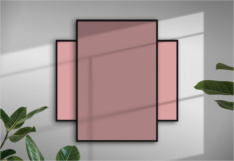 Free-Poster-Frames-with-Shadow-Mockup