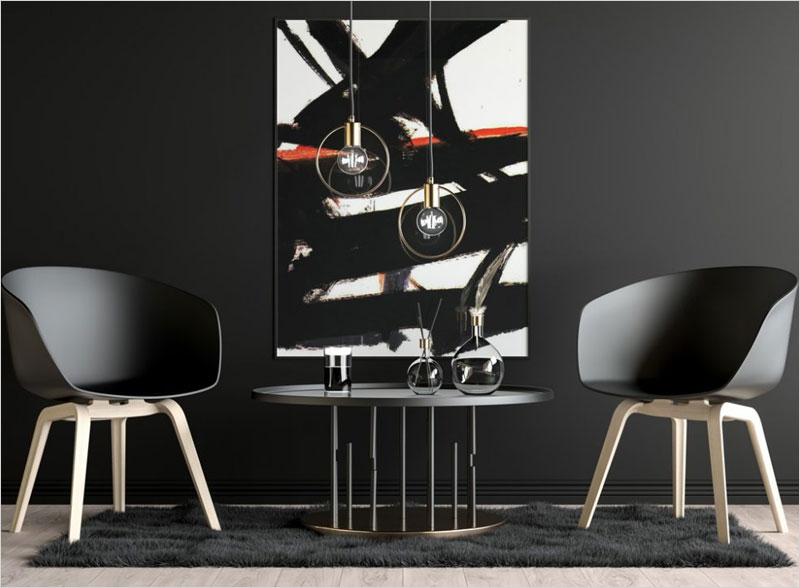 Free-Poster-on-dark-Livingroom-Wall-Mockup