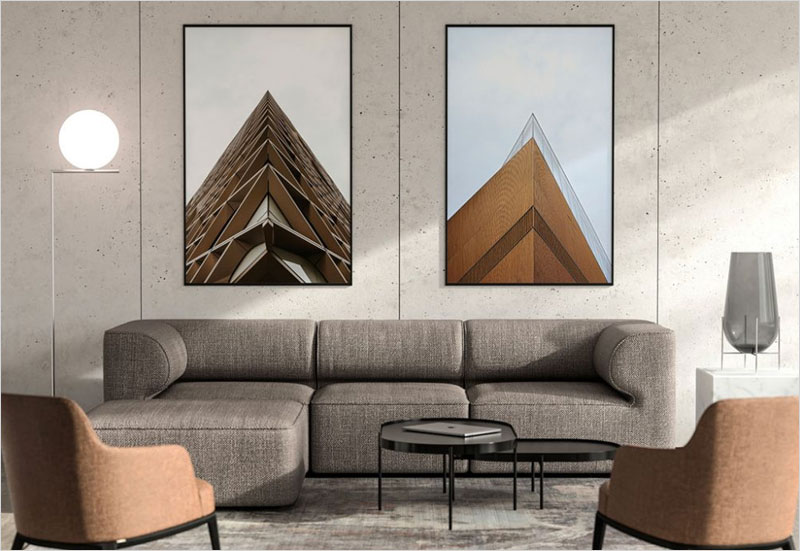 Free-Room-with-two-Poster-Frames-Mockup